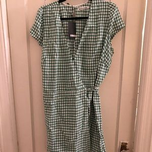 Rodin Gingham Reformation Wrap Dress